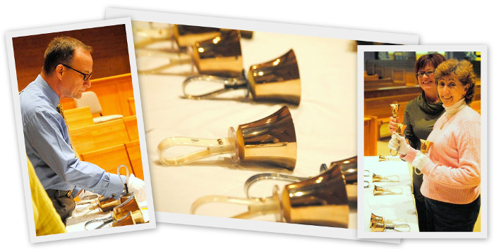 handbell choir collage